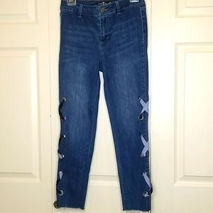 One5One Ribbon High Waisted Jean's Size 4